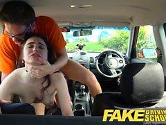 Fake Driving School Novos aprendizes bichano apertado esticado