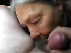 Grannys Blowjob within the Vehicle