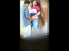 Indian couple hidden forest sex Delcie from 1fuckdatecom