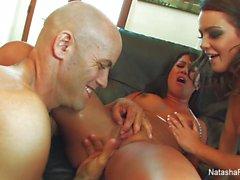 Threesome fun with Natasha, Kayme, and Derrick
