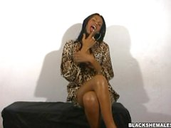 Ebony Shemale Perfection with big black cock Kawanna di Prado