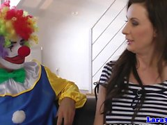 Kinky British MILF mouthfull of clown jizz
