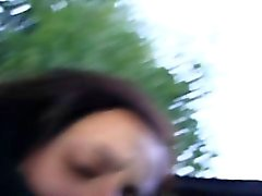 Amateur bebê batido na balcão pov