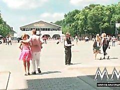 MMVFilms saksa vaalea nai julkisessa