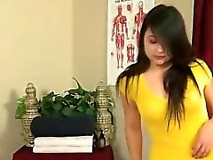 Gorgeous masseuse gets hired by horny brunette lezzie
