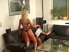 Hot blonde mom gets stuffed
