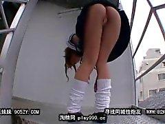 Yumesaki Canon Upskirt en las escaleras