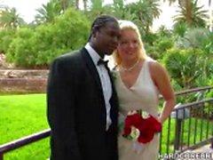 Bride and groom ficken auf ihrem großen Tag