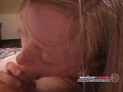 Creampie i magra blondinen kanadensiska hemgjorda amatörer