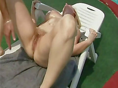 Fisting aged finnish wife