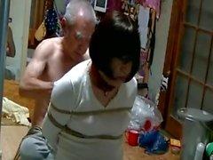 Blame Jyosouko Fujiko ass with water, whip and wax