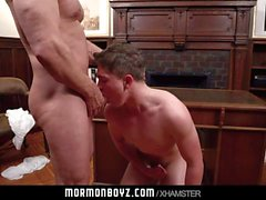 MormonBoyz - Mormon Teen Barebacked By Bear Daddy