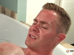 Jimmy Durano slams Trent Atkins eager ass in the bathroom