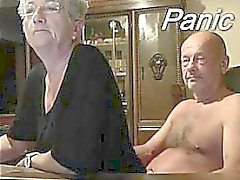 Plus âgé, couple, devant, Webcam