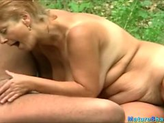 Mature couple fuck in the forests