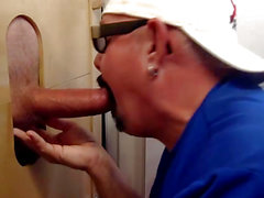 Engulfing Biker Ramrod At The Gloryhole