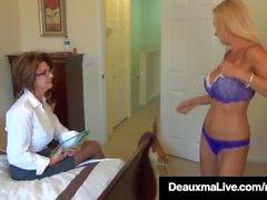 Kåt MILF Deauxma & Brooke Tyler Pussy Pleasure varandra!