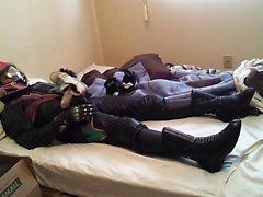Pungent calcetín en el casco, femenino Leather Motorcycle Equipme