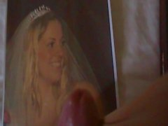 Jemma Wedding Cumtribute with pantyhose (big load)
