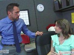 Babe collant di Addie di Juniper cazzo di presso l'ufficio