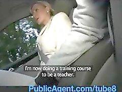PublicAgent Blonde exgirlfriend rijdt mijn pik in mijn auto