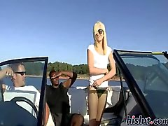 Brandy takes a boat ride