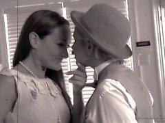 La configuration de Michelle et la d'âge mûr lesbienne de Nina Hartley