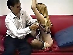 Naylon çorap sevimli sıska sarışın vidalı alır