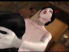 Nun and Demonic Babe fuck in Futanari