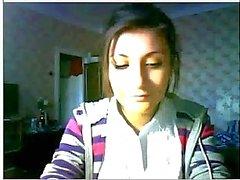 Mooie Russische meisje op webcam