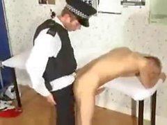 Hung British Police man Fucks Teen Prisoner