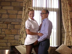 Teen nurse pussyfucked by pensioner