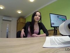 LOAN4K. Flawless ambitious girl Kristy Black appears in...
