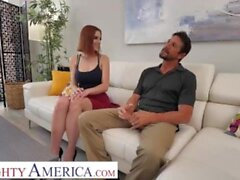 'Naughty America - Lilian Stone rides a hard cock that doesn't belong to her'