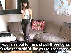 FakeAgentUK Tattooed brunette loves agents cock up her bum