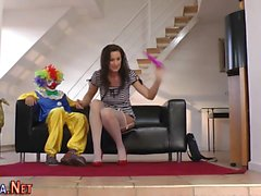 Stockings ho clown fucked