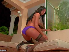 Ashley Bulgari is a raven haired beauty in black nylons - nude videoclip Pornsharing