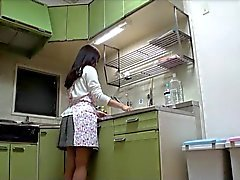 Hairy Japan Milf Fuck In Kitchen