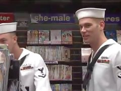 Sailors at the book store