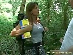 Olandesi MILF Scopata in alto bosco