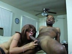 Interracial webcam she takes big black cock