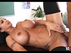 Big Tits Fit MILF Rides Thick Student Cock Jewels Jade