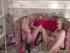 wild threesome scandinavian amateur orgy