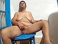 62 years old and fingering on balcony in Morocco