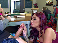 Full classroom hardcore along dong addicted Monique Alexander