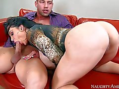Horny Lady boss Amy Anderssen with giant tits and bubble butt