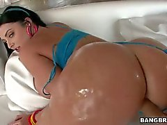 Sophie Dee with wet Big Ass and tits gets slammed doggy style