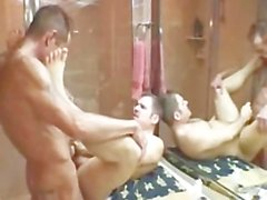 hung daddy raw fucks then breeds muscular daddy