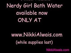 'Nerdy Girl Bath Water for Sale BBW Huge Tits Hairy MILF Plays w Soapy Toys'