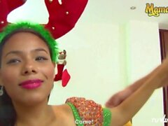 'Tu Venganza - SUPER HOT CHRISTMAS SEX! Big Ass Latina Colombiana Takes On A Huge Cock From Santa's Helper - MamacitaZ'